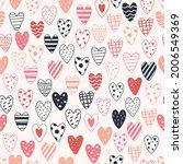 heart pattern  valentine day... | Shutterstock .eps vector #2006549369