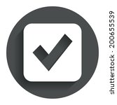 check mark sign icon. checkbox...