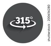 angle 315 degrees sign icon....