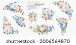 beautiful set floral bouquet... | Shutterstock .eps vector #2006564870
