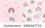 seamless childish pattern with... | Shutterstock .eps vector #2006567723