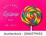 National lollipop day  text on...