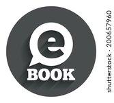 e book sign icon. electronic...