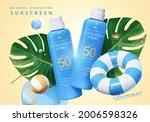3d ad design for sunscreen...   Shutterstock .eps vector #2006598326
