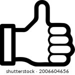 thumb up icon. like vector... | Shutterstock .eps vector #2006604656