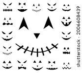 scary halloween pumpkin face.... | Shutterstock .eps vector #2006608439