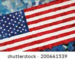 us national flag made from many ... | Shutterstock . vector #200661539