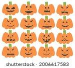 halloween pumpkin scary face... | Shutterstock .eps vector #2006617583