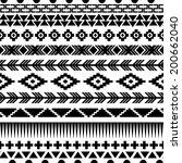 ethnic seamless pattern. aztec... | Shutterstock .eps vector #200662040