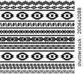 ethnic seamless pattern. aztec... | Shutterstock .eps vector #200662088