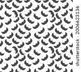halloween bat seamless pattern... | Shutterstock .eps vector #2006623136