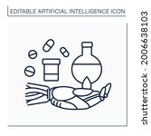 ai in pharmacy line icon....   Shutterstock .eps vector #2006638103