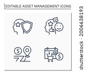 asset management line icons set.... | Shutterstock .eps vector #2006638193
