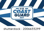 u.s. coast guard day in united...   Shutterstock .eps vector #2006655299