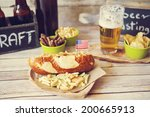 craft beer with hot dog | Shutterstock . vector #200665913