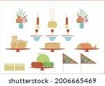 traditional offerings chicken ... | Shutterstock .eps vector #2006665469