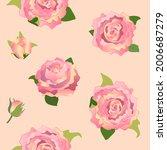 peonies. endless background....   Shutterstock .eps vector #2006687279