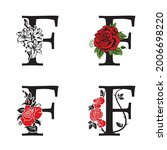 collection of letters f with... | Shutterstock .eps vector #2006698220