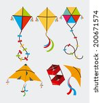 kite design over white... | Shutterstock .eps vector #200671574