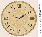 grunge old vintage clock face  | Shutterstock .eps vector #200672690