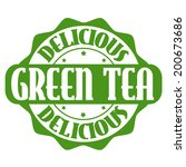 delicious green tea stamp or... | Shutterstock .eps vector #200673686