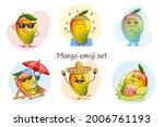 cute mango characters set... | Shutterstock .eps vector #2006761193