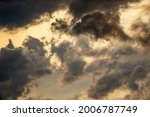 Ragged Clouds At Sunset Before...