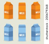 milk boxes collection vector... | Shutterstock .eps vector #200679368
