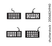 keyboard icon set collection...