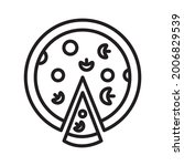 pizza icon design vector...