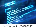 program code on a dark... | Shutterstock . vector #200683253
