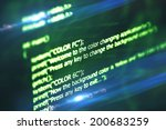 program code on a dark... | Shutterstock . vector #200683259