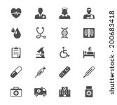 health care flat icons | Shutterstock .eps vector #200683418