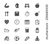 health care flat icons | Shutterstock .eps vector #200683430