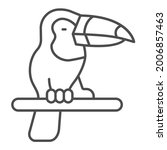 toucan thin line icon ...   Shutterstock .eps vector #2006857463