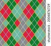 argyle pattern seamless...   Shutterstock .eps vector #2006876729
