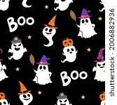 happy halloween party seamless... | Shutterstock .eps vector #2006882936