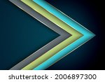 polygonal arrow with gold...   Shutterstock .eps vector #2006897300