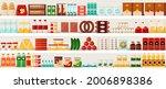 supermarket food. grocery...   Shutterstock .eps vector #2006898386