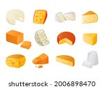 cheese. cow goat and sheep... | Shutterstock .eps vector #2006898470