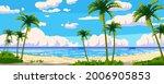 tropical resort landscape... | Shutterstock .eps vector #2006905853