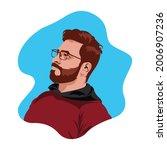 illustration of a handsome guy. ...   Shutterstock .eps vector #2006907236