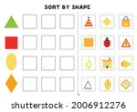 match by shapes. learning basic ... | Shutterstock .eps vector #2006912276