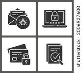 digital security icons. vector... | Shutterstock .eps vector #2006927600