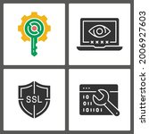 digital security glyph icons.... | Shutterstock .eps vector #2006927603