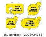your opinion matters symbol.... | Shutterstock .eps vector #2006934353