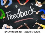 people working and feedback... | Shutterstock . vector #200694206