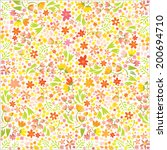 many small flowers | Shutterstock .eps vector #200694710