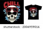 skull head with red glasses...   Shutterstock .eps vector #2006959016