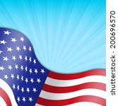 background with american flag | Shutterstock . vector #200696570